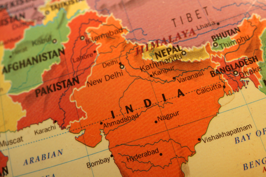 bigstock-Colorful-India-map-on-the-glob-27532532