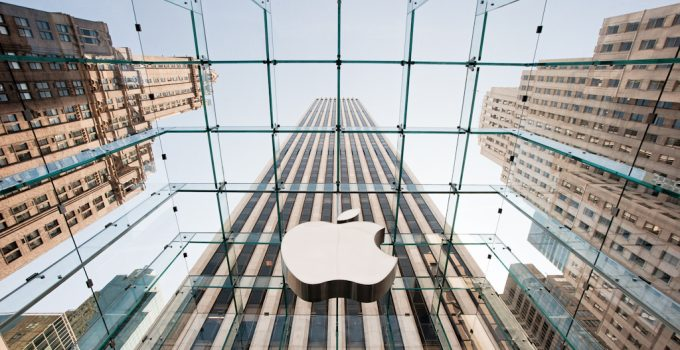 The Apple Store in New York, one of the largest businesses in the world